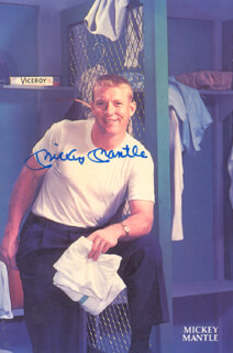 MICKEY MANTLE - PICTURE POST CARD SIGNED