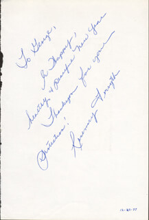 ROSEMARY FORSYTH - AUTOGRAPH NOTE SIGNED