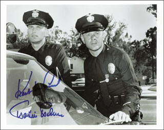 Autographs: ADAM 12 TV CAST - PHOTOGRAPH SIGNED CO-SIGNED BY: KENT McCORD, MARTIN MILNER