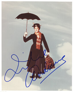 JULIE ANDREWS - AUTOGRAPHED SIGNED PHOTOGRAPH