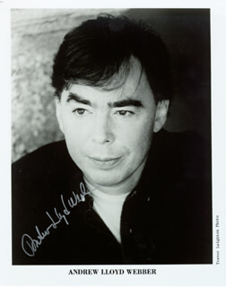 ANDREW LLOYD WEBBER - AUTOGRAPHED SIGNED PHOTOGRAPH