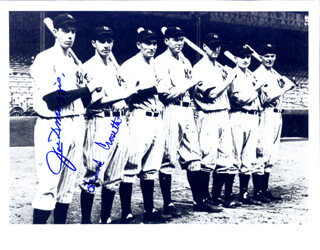 THE NEW YORK YANKEES - AUTOGRAPHED SIGNED PHOTOGRAPH CO-SIGNED BY: FRANK CROSETTI, JOE DIMAGGIO