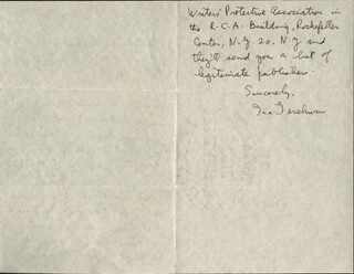 IRA GERSHWIN - AUTOGRAPH LETTER SIGNED 01/19/1951