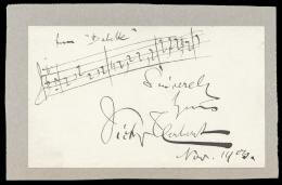 VICTOR HERBERT - AUTOGRAPH MUSICAL QUOTATION SIGNED 11/1/1900