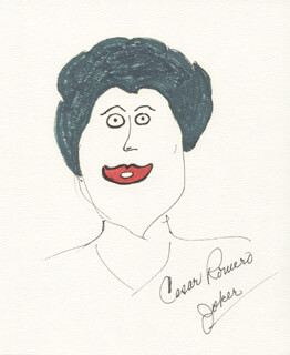 CESAR ROMERO - SELF-CARICATURE SIGNED