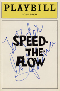 MADONNA - INSCRIBED SHOW BILL SIGNED CIRCA 1988