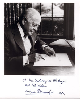 EUGENE ORMANDY - AUTOGRAPHED INSCRIBED PHOTOGRAPH 1982