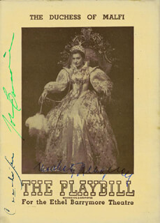 DUCHESS OF MALFI BROADWAY CAST - SHOW BILL SIGNED CIRCA 1946 CO-SIGNED BY: JOHN CARRADINE, CANADA LEE