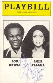 Autographs: LOLA FALANA - INSCRIBED SHOW BILL SIGNED