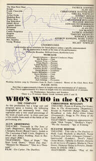 NICHOLAS NICKLEBY PLAY CAST - SHOW BILL SIGNED CO-SIGNED BY: ROGER REES, JANET DALE, JEFFERY DENCH
