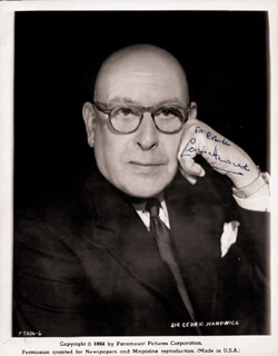 SIR CEDRIC HARDWICKE - AUTOGRAPHED INSCRIBED PHOTOGRAPH