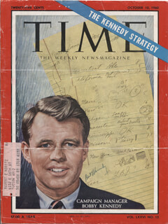 Autographs: ROBERT F. KENNEDY - MAGAZINE COVER SIGNED