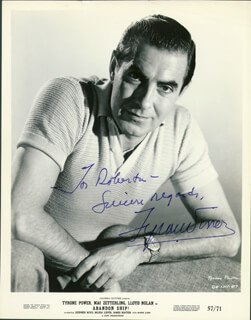 TYRONE POWER - AUTOGRAPHED INSCRIBED PHOTOGRAPH