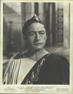CLAUDE RAINS - AUTOGRAPHED INSCRIBED PHOTOGRAPH
