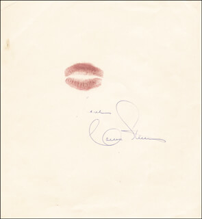 CONNIE STEVENS - LIP PRINT SIGNED