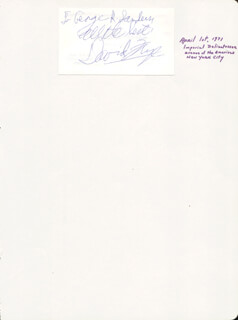 DAVID FRYE - AUTOGRAPH NOTE SIGNED CIRCA 1971
