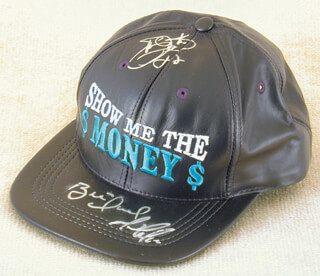EMMITT SMITH - HAT SIGNED CO-SIGNED BY: MARIO LEMIEUX, BRETT HULL