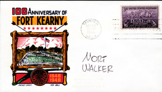 MORT WALKER - FIRST DAY COVER SIGNED