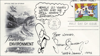 STEPHEN BENTLEY - FIRST DAY COVER WITH AUTOGRAPH SENTIMENT SIGNED 1992