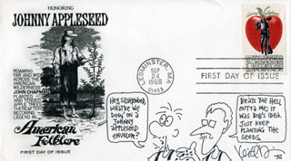 KEITH ROBINSON - ORIGINAL ART ON FIRST DAY COVER SIGNED 1992