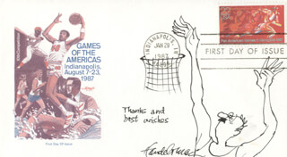 J. B. HANDELSMAN - ORIGINAL ART ON FIRST DAY COVER SIGNED CIRCA 1987