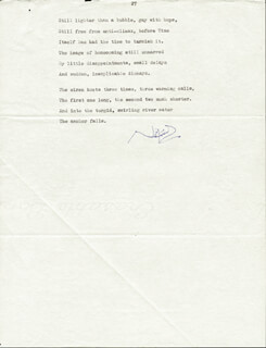 SIR NOEL COWARD - POEM SIGNED  - HFSID 252875