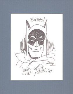 BOB KANE - ORIGINAL ART SIGNED 1994