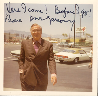 DAVE GARROWAY - AUTOGRAPHED SIGNED PHOTOGRAPH