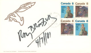 RAY BRADBURY - FIRST DAY COVER SIGNED 04/07/1981
