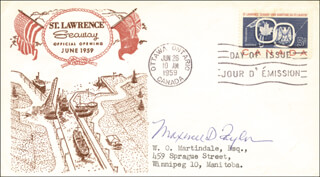 GENERAL MAXWELL D. TAYLOR - FIRST DAY COVER SIGNED