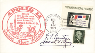 GENERAL LYMAN L. LEMNITZER - COMMEMORATIVE ENVELOPE SIGNED