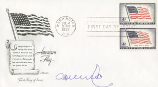 MANFRED ROMMEL - FIRST DAY COVER SIGNED