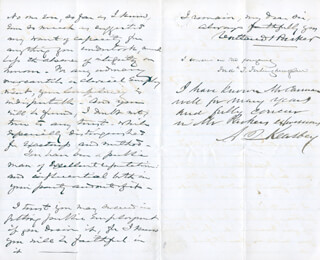 FREDERICK T. FRELINGHUYSEN - AUTOGRAPH LETTER SIGNED 03/01/1879 CO-SIGNED BY: COURTLAND PARKER