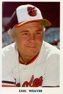 EARL WEAVER - PRINTED PHOTOGRAPH SIGNED IN INK