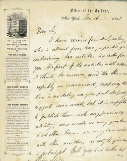 CHARLES ANDERSON DANA - AUTOGRAPH LETTER SIGNED 01/16/1855