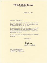 Autographs: ROBERT F. KENNEDY - TYPED LETTER SIGNED 04/05/1965