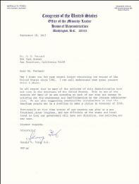 PRESIDENT GERALD R. FORD - TYPED LETTER SIGNED 09/28/1967
