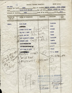 WOODY HERMAN - ANNOTATED DOCUMENT SIGNED