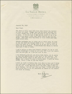 BABE (MILDRED) DIDRIKSON-ZAHARIAS - TYPED LETTER SIGNED 01/20/1948