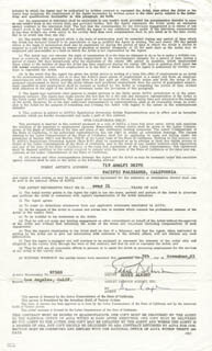 EDDIE ALBERT - DOCUMENT SIGNED 11/09/1965