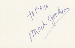 MARK GOODSON - INSCRIBED SIGNATURE