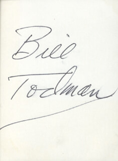 BILL TODMAN - PRINTED CARD SIGNED IN INK