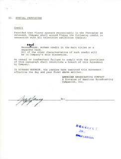 GIG YOUNG - CONTRACT SIGNED 05/21/1974