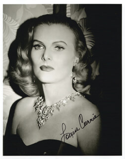 LOUISE CURRIE - AUTOGRAPHED SIGNED PHOTOGRAPH