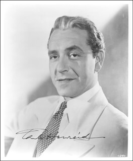 PAUL HENREID - AUTOGRAPHED SIGNED PHOTOGRAPH