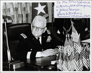 GENERAL LEWIS B. OLDEST SOLDIER HERSHEY - AUTOGRAPHED INSCRIBED PHOTOGRAPH