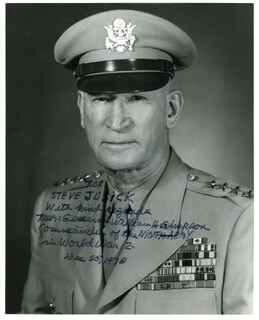 GENERAL WILLIAM H. SIMPSON - AUTOGRAPHED INSCRIBED PHOTOGRAPH 12/25/1978