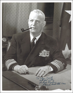 ADMIRAL ARLEIGH A. BURKE - AUTOGRAPHED INSCRIBED PHOTOGRAPH