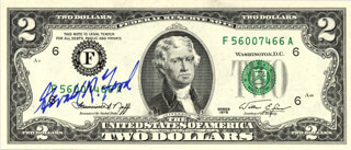 Autographs: PRESIDENT GERALD R. FORD - CURRENCY SIGNED