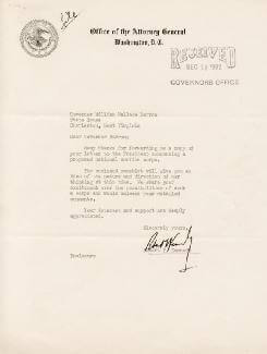 Autographs: ROBERT F. KENNEDY - TYPED LETTER SIGNED CIRCA 1962